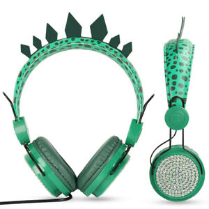 Dinosaur Wireless Headphones For Kids Bluetooth headphones Over-ear With Mic