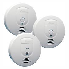 Battery Operated Smoke Detector Emergency Safety Fire Alert Alarm Sensor 3Pcs