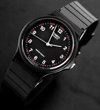 Reloj Nuevo Casio MQ-24-1B Hombres Análoga Negro Resina