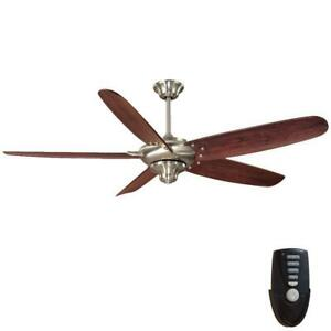 """Home Decorators Altura 68"""" Indoor Brushed Nickel Ceiling Fan with Remote Control"""