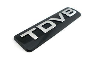 For Land Rover Range Rover TDV8 TD V8 Black Chrome ABS Emblem Badge Sticker