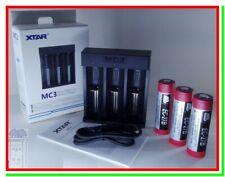 Caricabatterie per Pile Ricaricabili Litio XTAR MC3 + 3 Batterie 20700 EC-27B