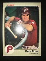 1983 Fleer Philadelphia Phillies Baseball Card #171 Pete Rose