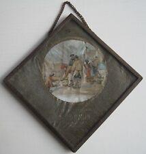 Ancienne pancarte,publicité peinte.ÉPICERIE-CAFÉ. A.POUCHIN. COUTANCES.