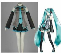 NEW Vocaloid Miku Hatsune Cosplay Costume Dress Set New 4 Size
