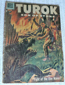 TUROK SON OF STONE #9 - DELL 1957