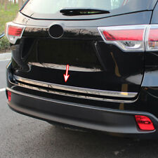 Rear Trunk Trim For Toyota Kluger 2014-2018 Chrome Tail Gate Door Cover Molding