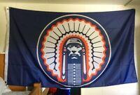 New ILLINOIS FIGHTING ILLINI 3x5 Feet Flag Banner Blue Chief Illiniwek NCAA