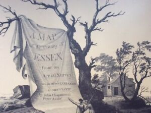 A MAP OF THE COUNTY OF ESSEX BY JOHN CHAPMAN & PETER ANDRE