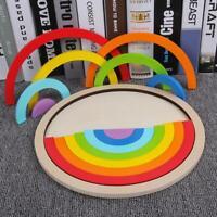 14 Teile / satz Bunte Holzklötze Spielzeug Für Kinder Kreative Regenbogen Montie
