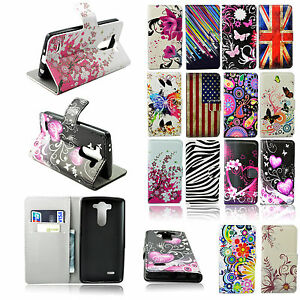 Credit Card Holder PU Leather Soft Gel Cover Case Stand For LG Mobile Phone