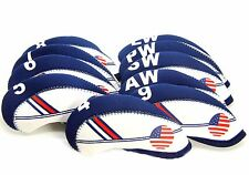 USA FLAG GOLF Iron Head Covers Headcovers Club Protection For Callaway Titleist