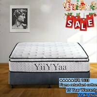 YIIYYAA 11.4''Innerspring Memory Foam Hybrid Mattress  Twin/Full/Queen/King USA