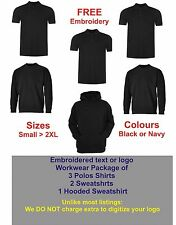 """PERSONALISED EMBROIDERED WORKWEAR PACKAGE  """"FREE"""" DIGITIZING OF YOUR LOGO / TEXT"""