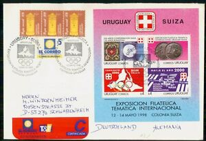 MayfairStamps Uruguay 1998 Philatelic Exposition Olympics Cover wwk37807