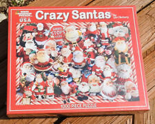 PUZZLE by White Mountain CRAZY SANTAS 1000 Piece Puzzle NEW Sealed
