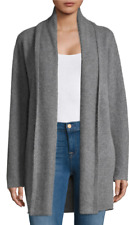 $475 NWT VINCE 100% SOFT CASHMERE OPEN FRONT CARDIGAN SWEATER GREY/HEATHER STONE