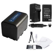 NP-FM70 Battery + Charger + BONUS for Sony HDR-UX1 HC1 DCR-TRV80 TRV50