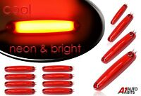 12x 12-24V LED Neon Red Side Rear Tail Marker Lights Lamps Trailer Truck Lorry