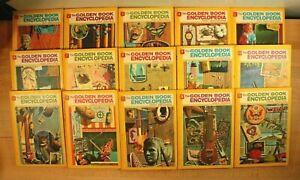 """The Golden Book Encyclopedia"" Series For Children! Set of 15 Vintage HC Books"