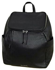 Vera Bradley Design Sample Black Leather Backpack