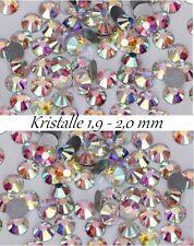 40 Stück Kristalle aus Glas SS5 1,8 - 1,9 mmIrisierend High Shine Effekt