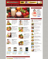 HEALTHY EATING ADVICE WEBSITE WITH AFFILIATE STORE & NEW DOMAIN
