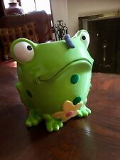 Frog Big Eye Polka Dot Ceramic Garden Planter Kid Bath Bedroom Flower Pot Basket