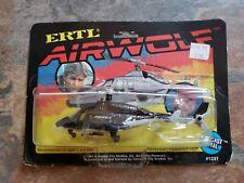 Vintage Airwolf 1984 Ertl #1231 Air Wolf Helicopter 1:64 Die cast New on Card