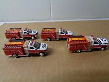 LOT of 4 MATCHBOX 1999 FORD -350 MINI PUMPER FIRE TRUCKS 1/80