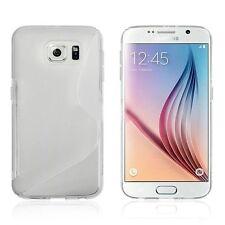 Pour Samsung Galaxy S6 Coque en Gel Silicone S-line S-Ligne Transparent
