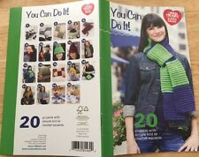 PATTERN CROCHET KNIT 20 SQUARE PROJECTS RED HEART SUPER SAVER YARN easy NEW