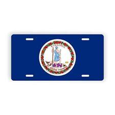 "Virginia State Flag Vanity Licence Plate 6"" x 12"" Aluminum Plate"
