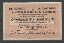 Bremen - Francke Werke K.a.A.  -  200 Tausend Mark  (AB)