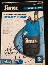 Simer Smart Geyser Automatic Submersible Utility Pump Model 2330 1/4 HP NiB