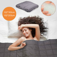Premium Cotton Weighted Heavy Blanket Adults Kids Sleep For Anxiety Stre