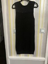 Black Knitted Dress With Silver Glitter Throughout From Topshop Size 14