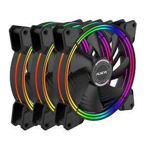 ALSEYE H14 case fans 140mm RGB fans combo with RGB controller.