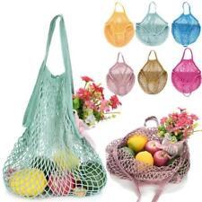 Reusable Baumwollschnur Netz Einkaufsnetz Einkaufstasche Basketball Tasche PD