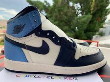 New Nike Air Jordan 1 Retro OG High Obsidian UNC 575441-140 Youth 5 = Womens 6.5