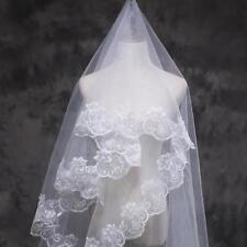Blanca elegante de la boda del codo longitud satinado nupcial velo corto