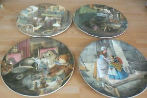 Set of 4 Wedgwood Bone China Collector Plates - WIND IN THE WILLOWS