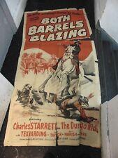 Charles Starrett Both Barrels Blazing Original 3-Sheet Movie Poster #N1321