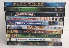 10 Childrens DVD Lot Kids Daycare Hugo Happy Feet Night Museum Peter Pan TMNT 1A