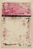 No.867 Original Abstract Modern Minimal Mini Textured Painting By K.A.Davis