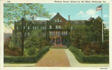 Pittsburgh Western Pennsylvania School for the Blind 1940 Postcard