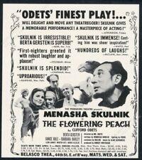 1955 Clifford Odets The Flowering Peach play Menasha Skulnik photo print ad
