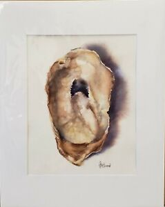 Oyster by Ashly DeBoard - Matted  Original Watercolor