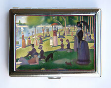 A Sunday on La Grande Jatte Cigarette Case Wallet Business Card Holder fine art