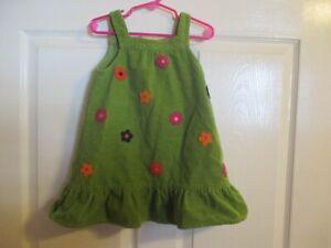 Gymboree Size 3T Girls Green Corduroy Jumper Dress Great Condition